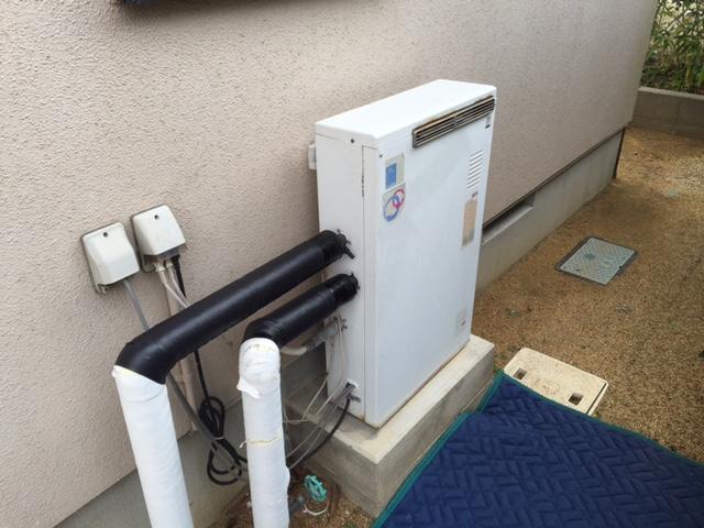 福島県S邸ガス給湯器工事 施工前