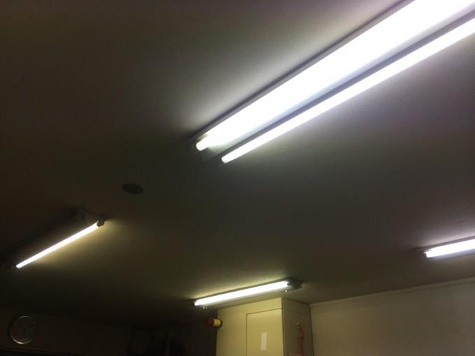 宮城県S市 事務所LED証明取付工事 施工前