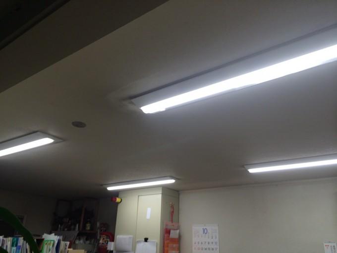 宮城県S市 事務所LED証明取付工事 施工後