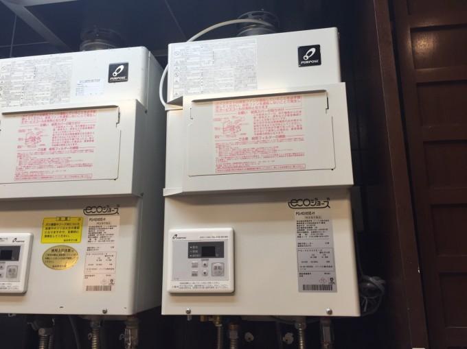 宮城県 仙台市業務用ガス給湯器交換工事 写真