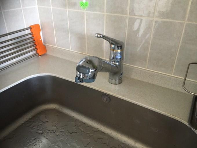 宮城県 キッチン水栓工事 施工前
