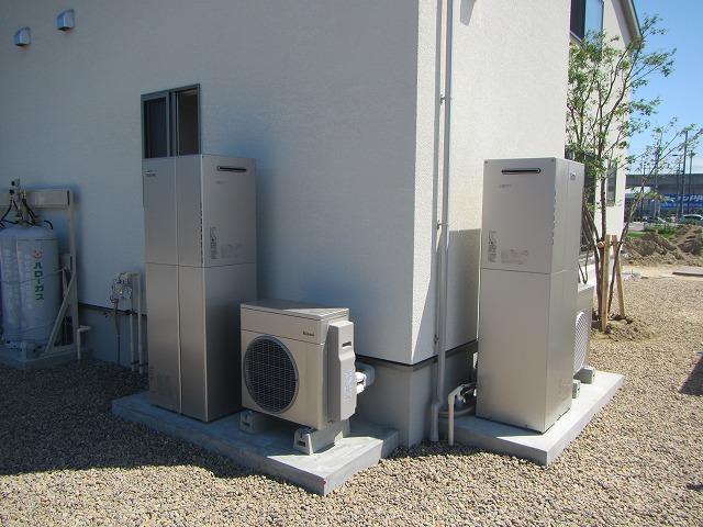 宮城県 ハイブリッド給湯器エコワン設置工事 写真